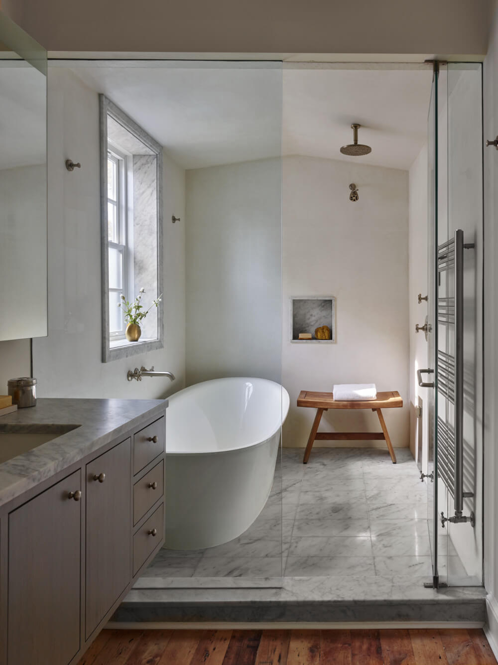 Greenpoint Row House Features Two Story Kitchen And Bone