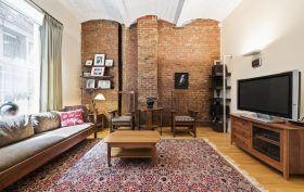 54 pine street, tribeca, condo, living room