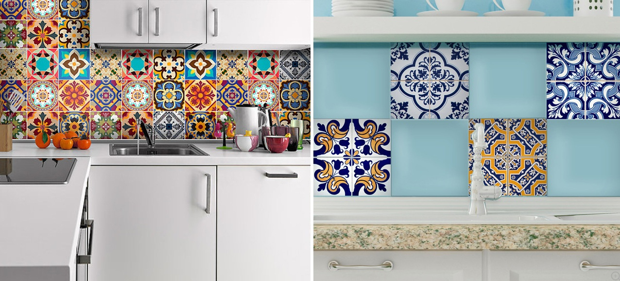 mediterranean backsplash tile stickers