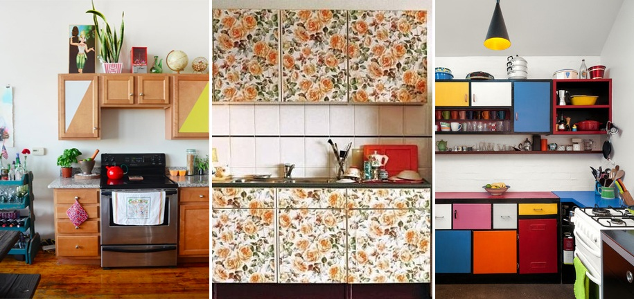Kitchen Cabinet Wallpaper Ideas