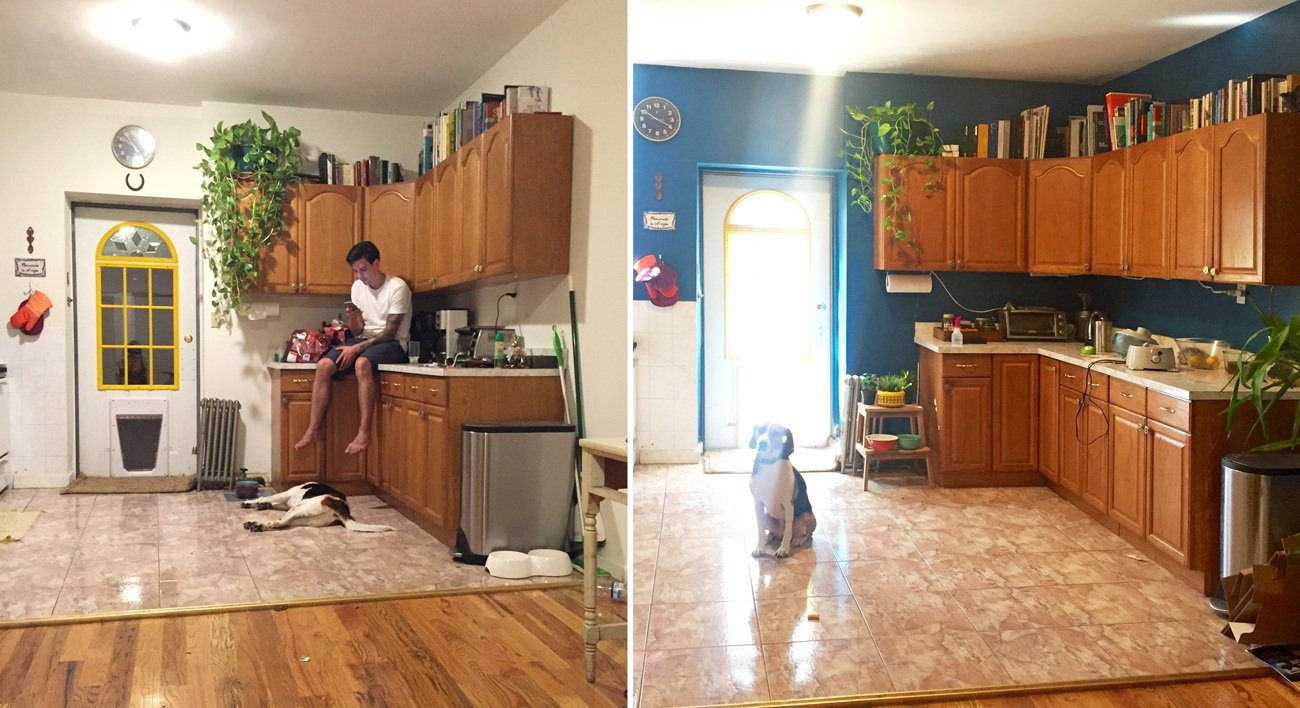 kitchen-before-and-after-painting-blue