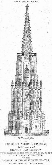 never-built Washington Monument, Upper East Side history, Hamilton Square