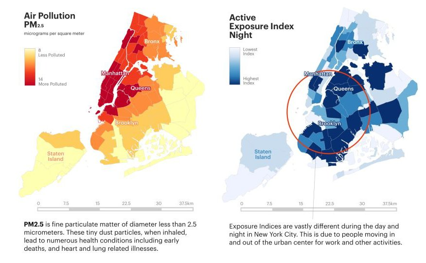 Maps Reveal NYC Neighborhoods With The Worst Air Pollution And - New york city map with neighborhoods