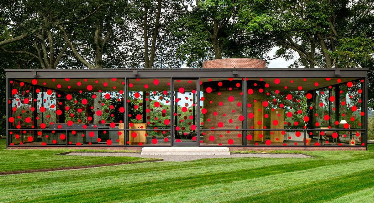 Yayoi Kusama, Philip Johnson Glass House, polka dot art