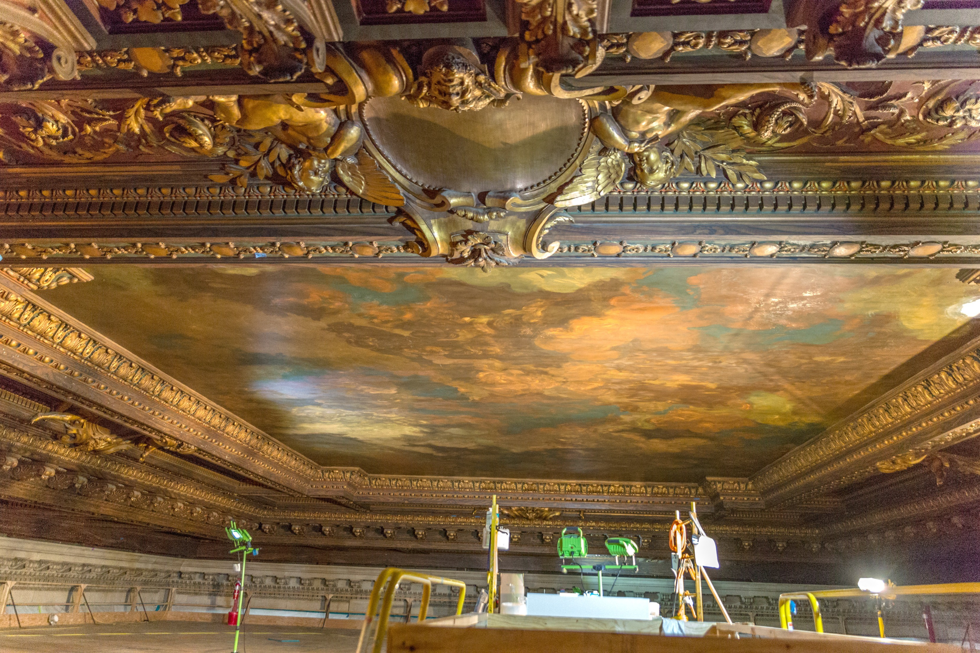 NYPL-Bill Blass mural-before-1