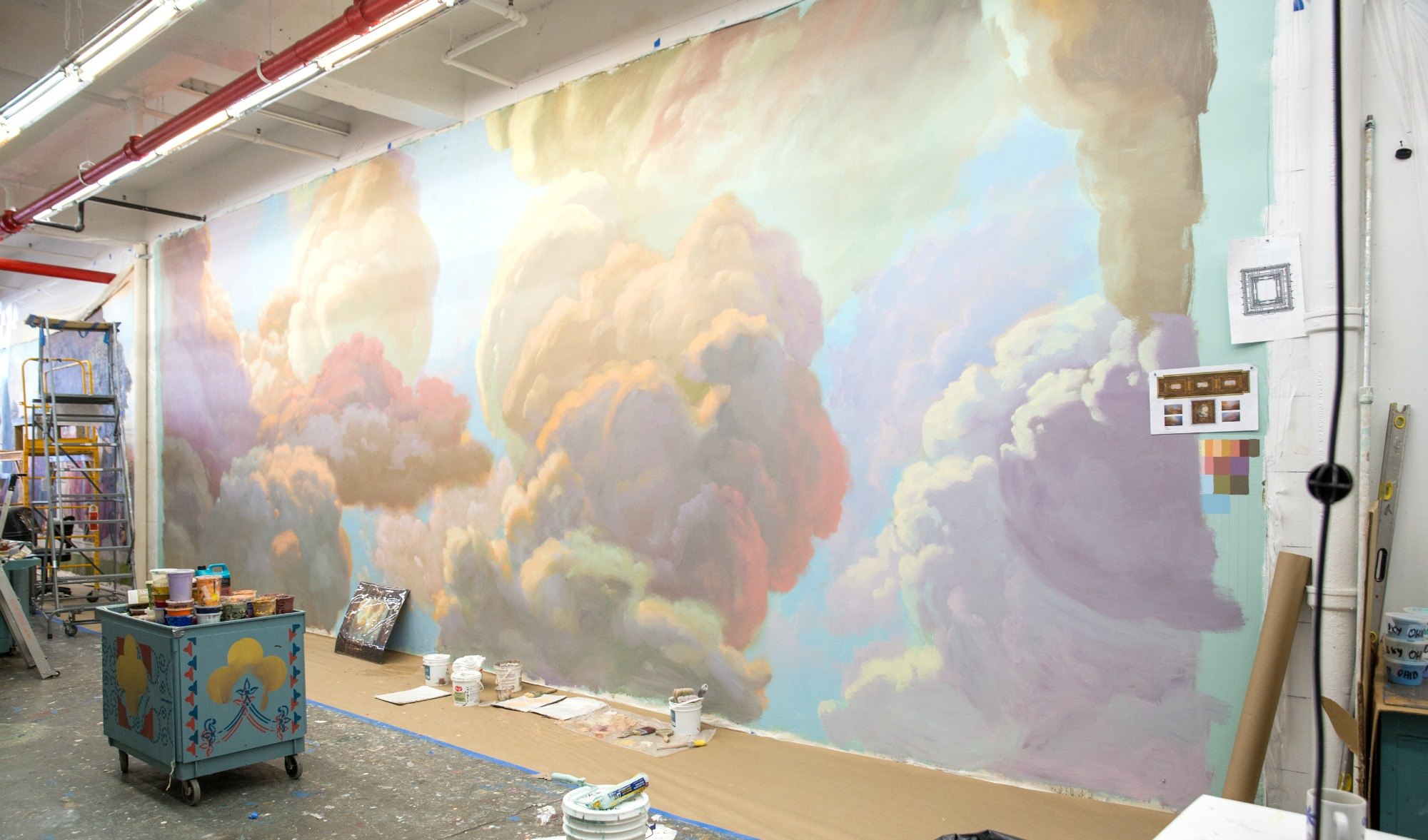 NYPL-Bill Blass mural-studio-1