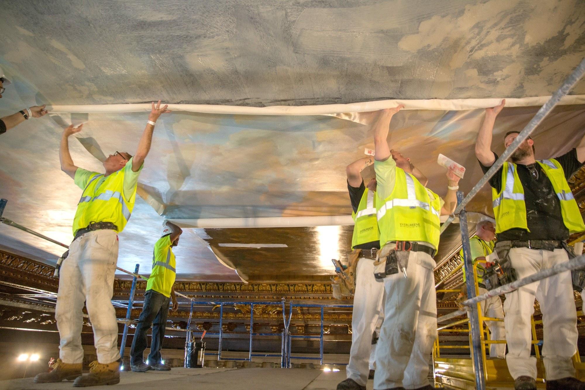 NYPL-Bill Blass mural-installation-1
