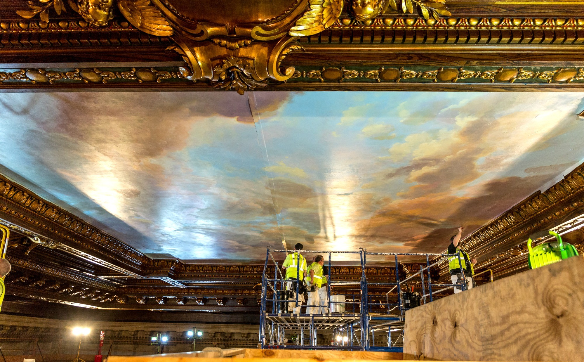 NYPL-Bill Blass mural-installation-3