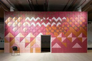 Form Us With Love, Sound Absorbing Wall Panels, BAUX Träullit, wood wool, heat and moisture regulator, mix and match panels
