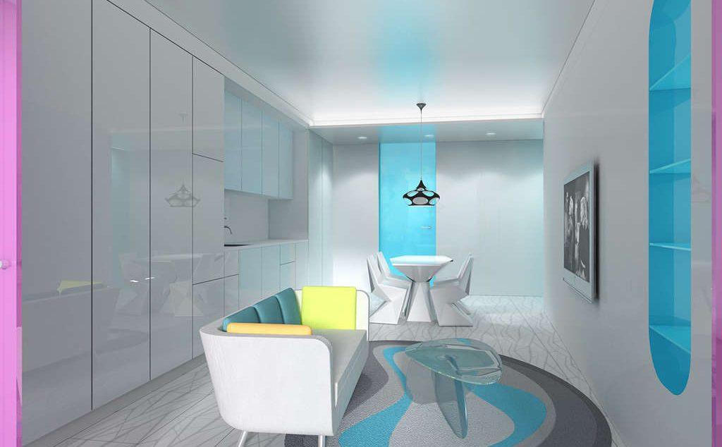 Look inside karim rashid s futuristic hap five condo for Karim rashid interior