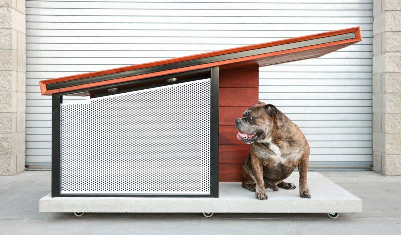 RAH:DESIGN employed modern home-building techniques to design this cool dog house
