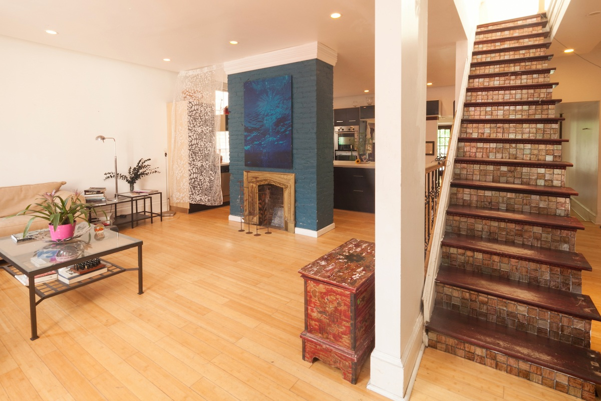 136 Clinton Avenue, historic homes, cool listings, townhouse, clinton hill, quirky homes, haunted house