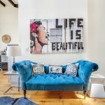 66 west 11th street ny  blue couch