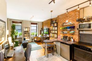 347 West 44th Street, living room, hell's kitchen