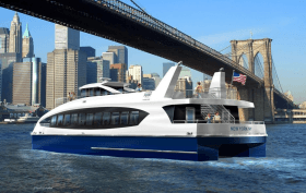 Citywide Ferry, CFS, Mayor De Blasio, Hornblower, NYCEDC, Metal Shark, Horizon, Cameron Clark