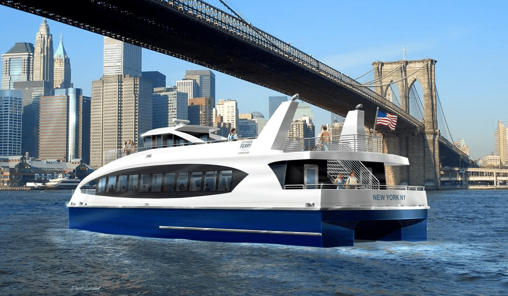 Construction has officially begun for citywide ferry system; first boats to arrive in 2017