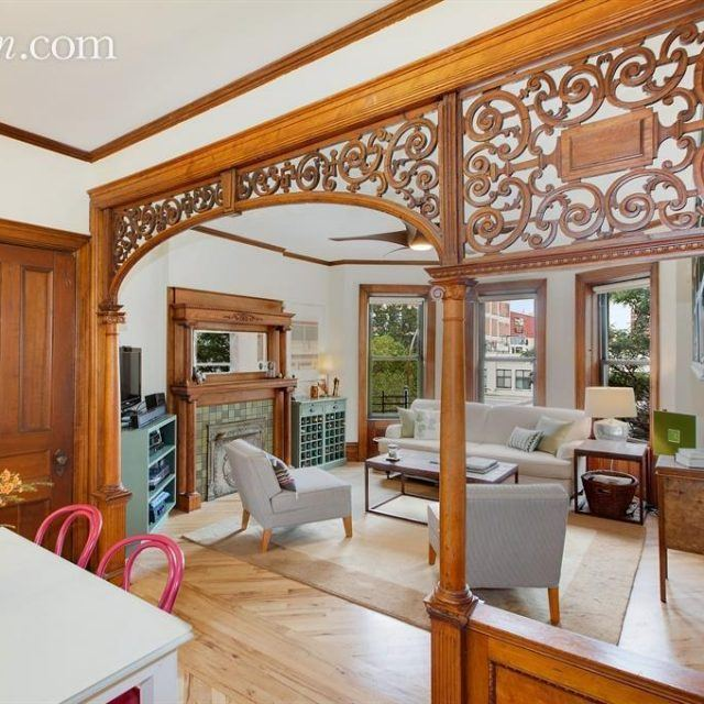 Gorgeous woodwork abounds at this $1.25M prewar co-op in Prospect Heights