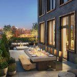 196 Orchard Street terrace-living