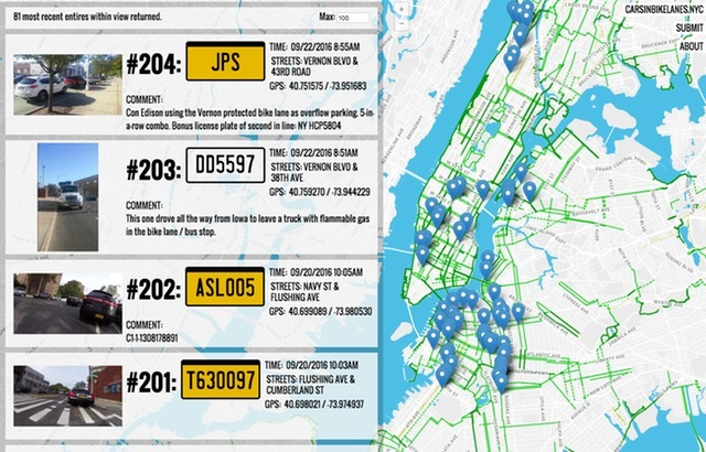 Interactive map shames drivers parked in bike lanes; check out the amenities at 15 Hudson Yards