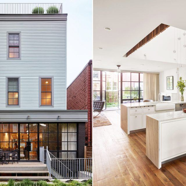 Greenpoint row house features two-story kitchen and bone-dry wine cellar