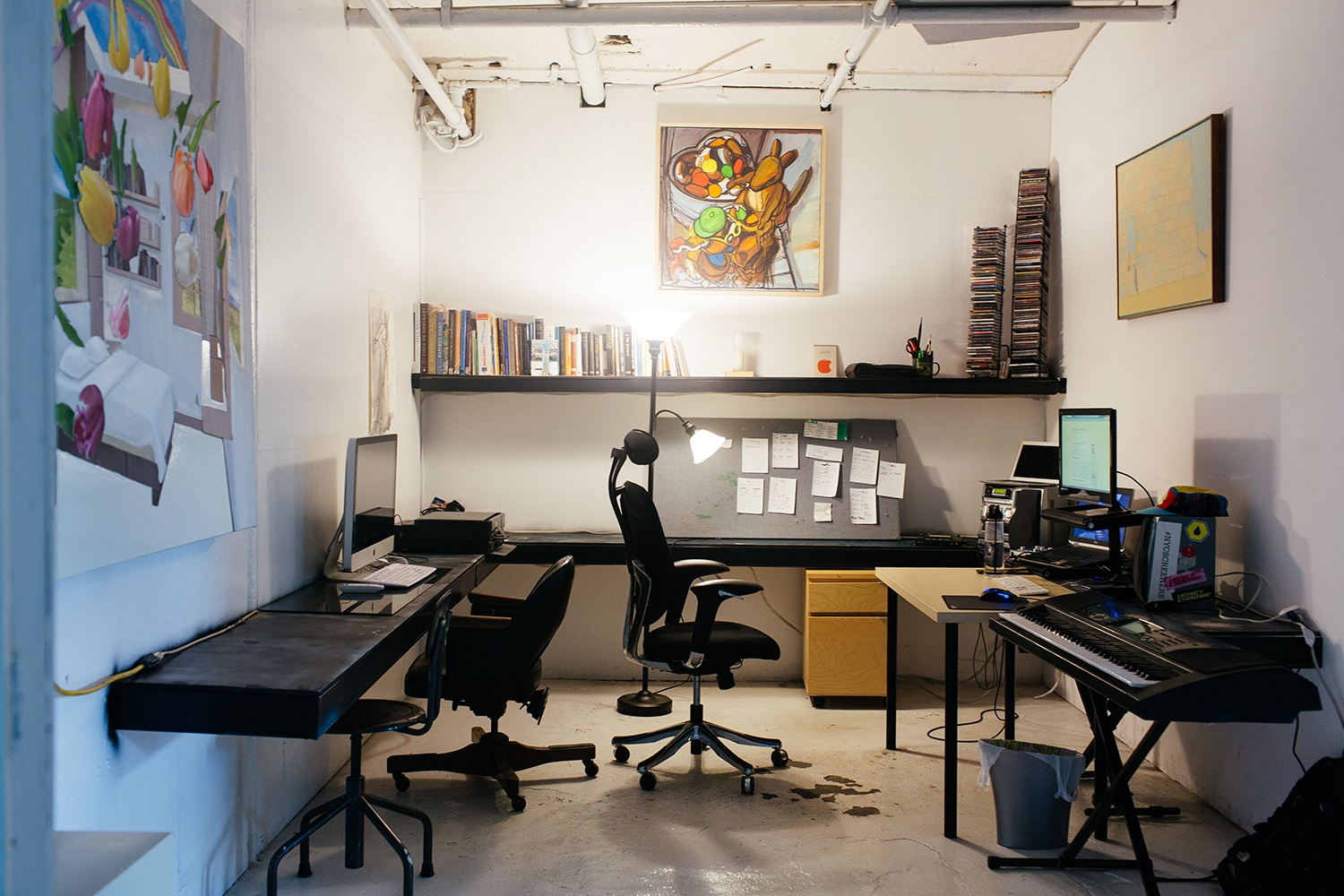 Artist-Chad-Lewine-Brooklyn-Navy-Yard-Loft-office