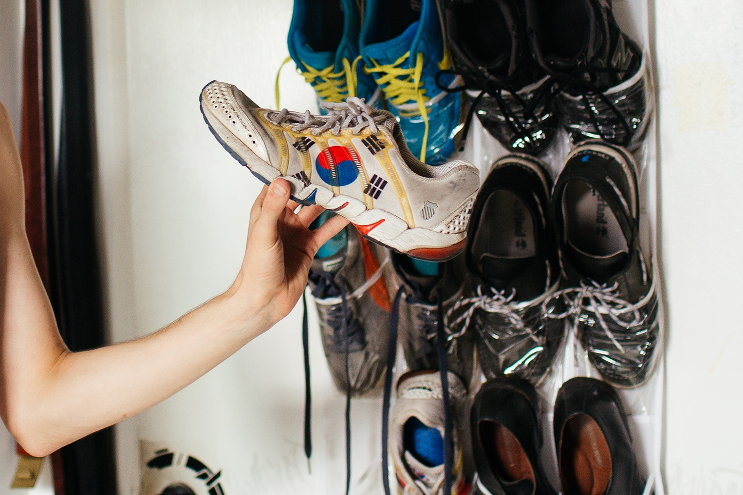 Artist-Chad-Lewine-Brooklyn-Navy-Yard-Loft-shoe-collection
