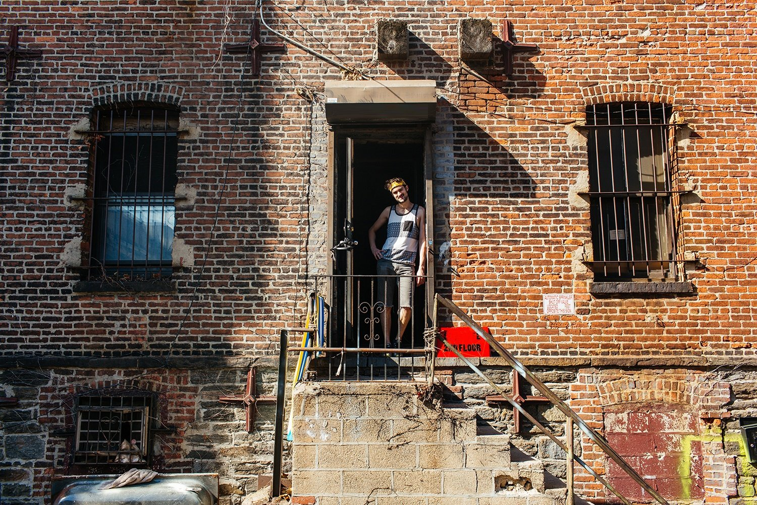 Artist-Chad-Lewine-Brooklyn-Navy-Yard-Loft-entrance_