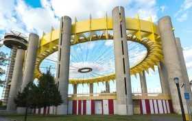 New York State Pavilion, Philip Johnson, Tent of Tomorrow, Flushing Meadows-Corona Park