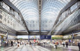 Moynihan Train Hall, Empire State Development Corporation, Amtrak, MTA, ANDREW CUOMO, EMPIRE STATION COMPLEX, JAMES A. FARLEY POST OFFICE, MOYNIHAN STATION, PENN STATION, Skidmore, Owings & Merrill, SOM, McKim, Mead & White, Madison Square Garden