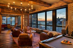 40 Broad Street, Setai, Cool listing, condo, furnished condo for rent, rentals, views, water views, husdon river views, chandelier, murano, sauna, pool table, fidi, financial district