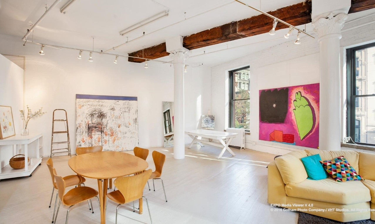 Tribeca live/work loft with an impressive great room hits