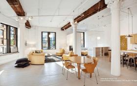 6 varick street, tribeca, living room