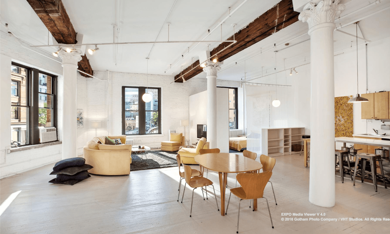 Tribeca live/work loft with an impressive great room hits the market ...