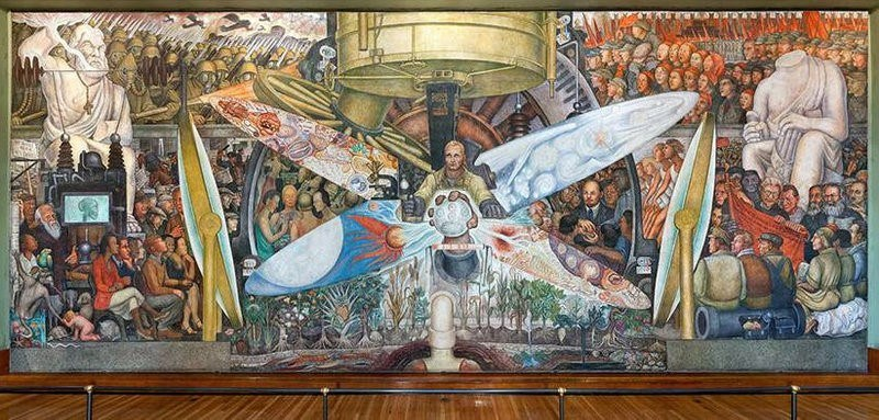 diego rivera 39 s psychedelic rockefeller center mural was