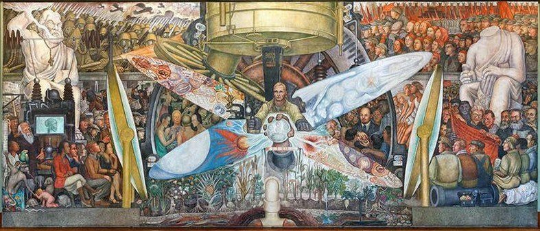 "Recreated mural titled ""Man, Controller of the Universe"" by Rivera Diego"