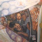 Detail of Vladimir Lenin portrait added to the mural without Rockefeller's consent.