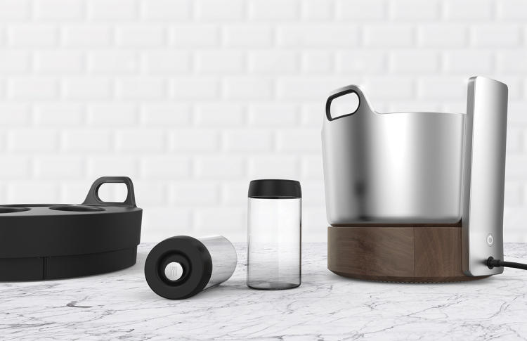 Oliver, the redesign slow cooker with the ingredient canisters