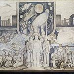 diego rivera early sketch Rockefeller mural