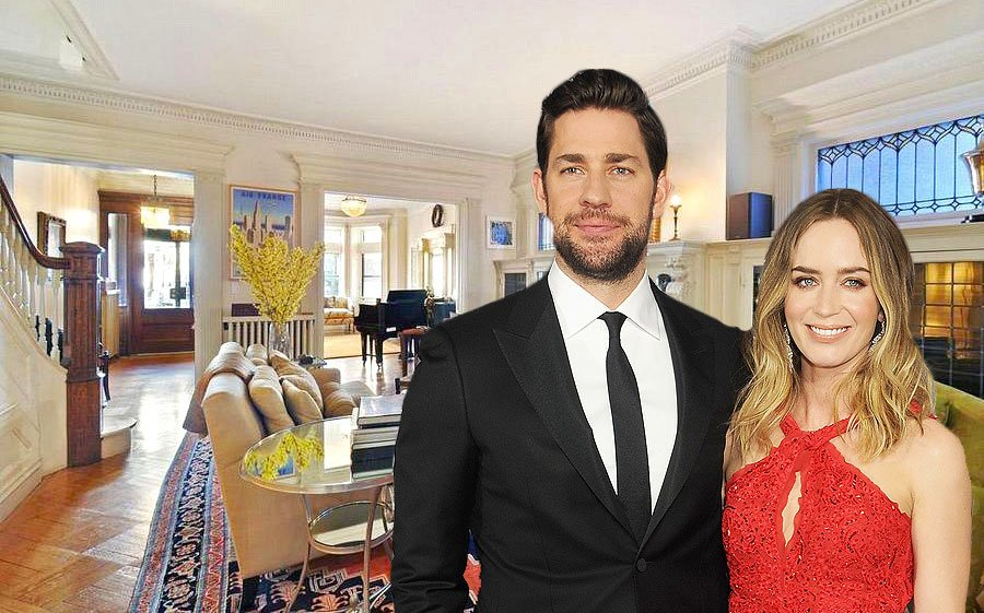 Emily Blunt and John Krasinski, Park Slope townhouse, Park Slope historic district