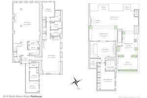39-41 North Moore Street, Tribeca, penthouse, douglas elliman, floorplan