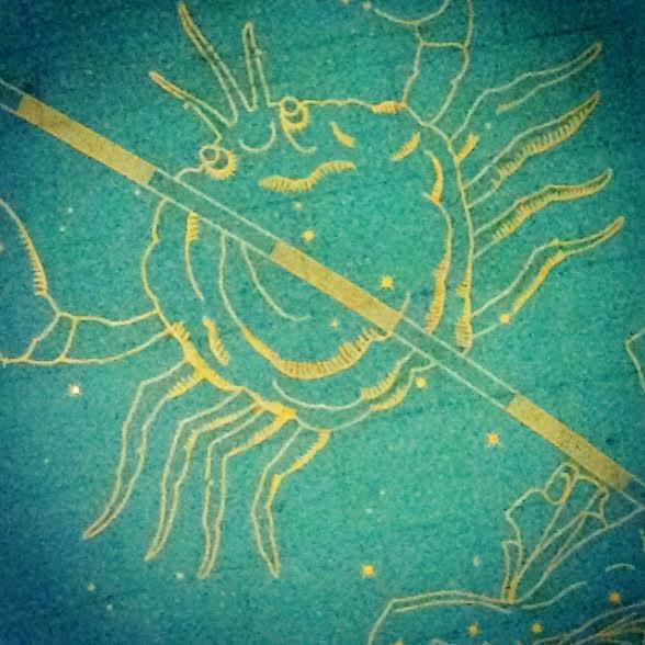 3c. Grand Central Station, detail of ceiling with Cancer zodiac symbol, 2016 (tam)
