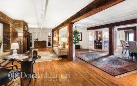 288 west street, tribeca, loft, condo, living room