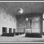6a. Newark, NJ Pennsylvania Station, 1935. Waiting room. Art Deco style. [NJ Historical Society]