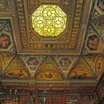 1a. Morgan Library, built 1906. Ceiling detail, 2014. Photo: Baruch College, via Medieval.org