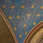 5a. Williamsburgh Savings Bank Tower, detail of blue ceiling mosaic. Photo: Larry Lederman, NYSID