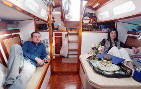 nyc houseboat couple, vicortia fine, jon vidar