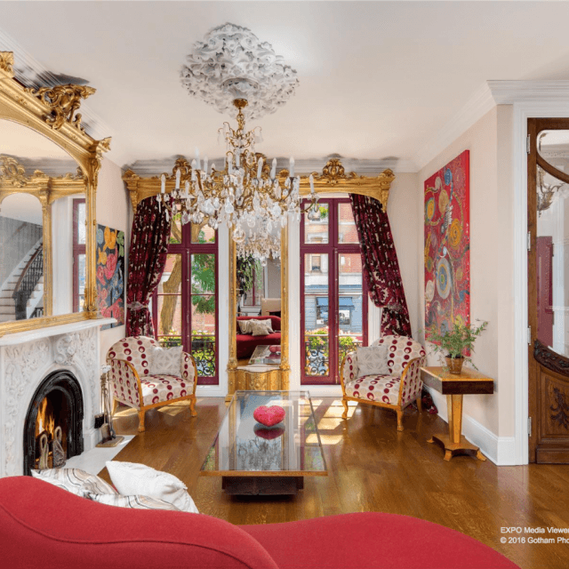 $16.75M townhouse owned by artist Angel 'Vlady' Oliveros boasts banisters from the Plaza Hotel