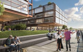 red hoek point waterfront rendering, norman foster red hook
