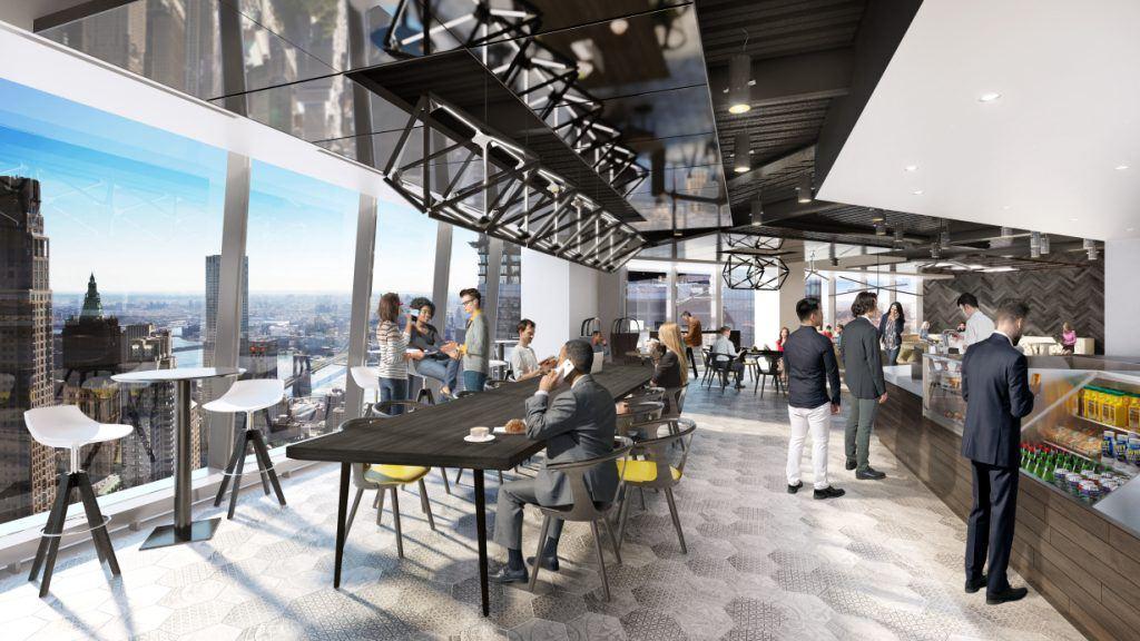 Renderings Revealed For Gensler S Communal Sky Lobby At