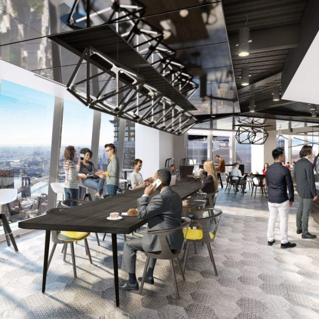 Renderings revealed for Gensler's communal sky lobby at One World Trade Center